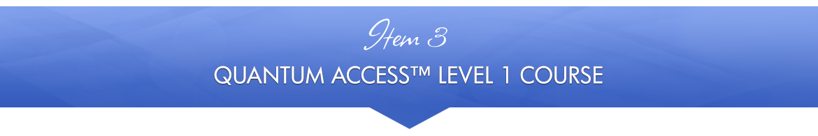Item 3: Quantum Access™ Level 1 Course