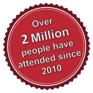 Over 1 million people have attended since 2010