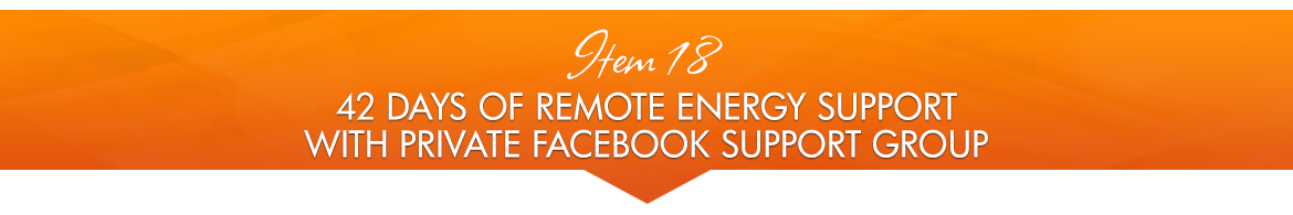 Item 18: 42 Days of Remote Energy Support with Private Facebook Support Group