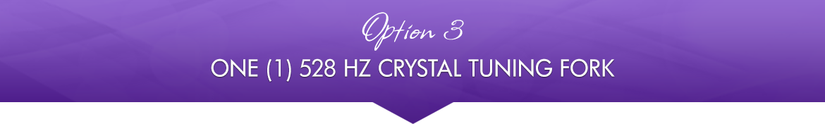 Option 3: One (1) 528 Hz Crystal Tuning Fork