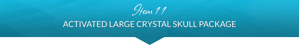 Item 11: Activated Large Crystal Skull Package