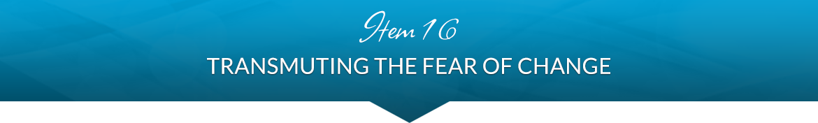 Item 16: Transmuting the Fear of Change