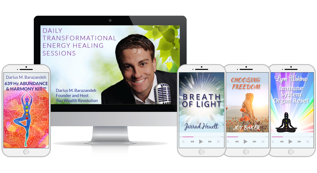 A display of all the free bonuses received when reserving a spot in one of our free transformational energy healing seminars