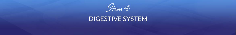 Item 4: Digestive System