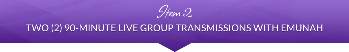 Item 2: Two (2) 90-Minute Live Group Transmissions with Emunah