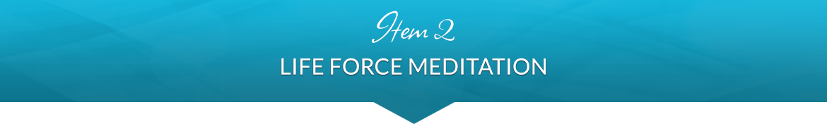 Item 2: Life Force Meditation
