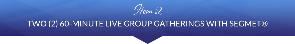 Item 2: Two (2) 60-Minute Live Group Gatherings with SEGMET®