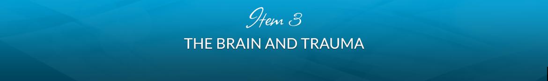 Item 3: The Brain and Trauma